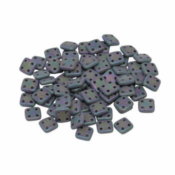 CzechMates® QuadraTile Beads -- Purple Iris Matte