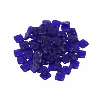 CzechMates® QuadraTile Beads -- Cobalt