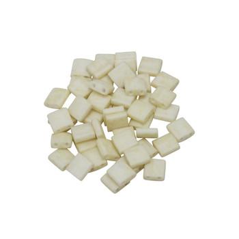 5mm Tila Beads -- Opaque Ivory Matte