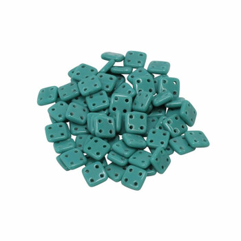CzechMates® QuadraTile Beads -- Persian Turquoise