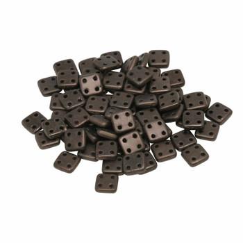 CzechMates® QuadraTile Beads -- Dark Bronze Matte
