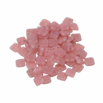 CzechMates® QuadraTile Beads -- Milky Pink Matte