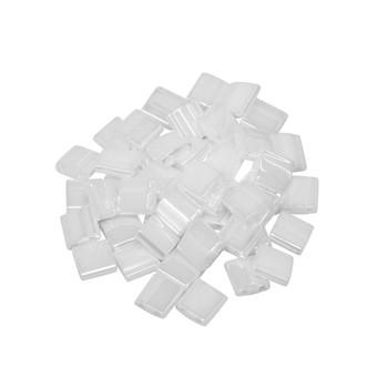 5mm Tila Beads -- White Pearl