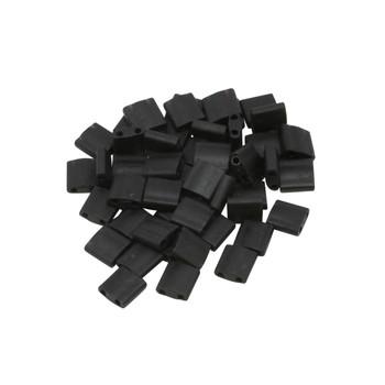 5mm Tila Beads -- Black Matte