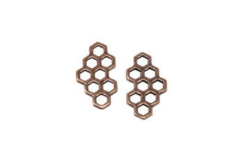 Honey Comb Link - Copper Plated