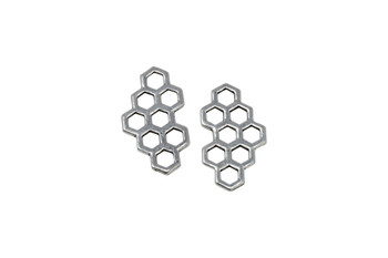 Honey Comb Link - Silver Plated