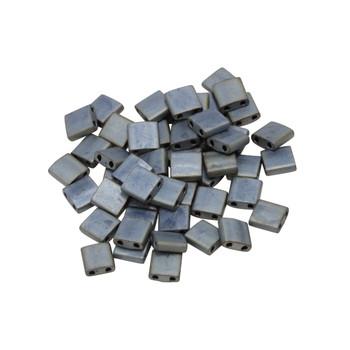 5mm Tila Beads -- Metallic Silver Grey Matte