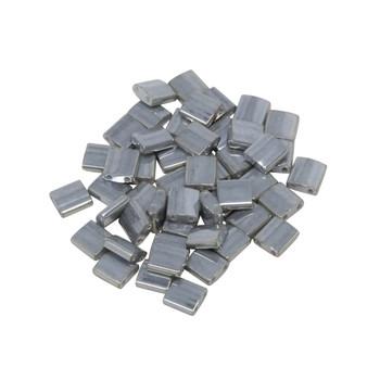 5mm Tila Beads -- Silver Gold Luster