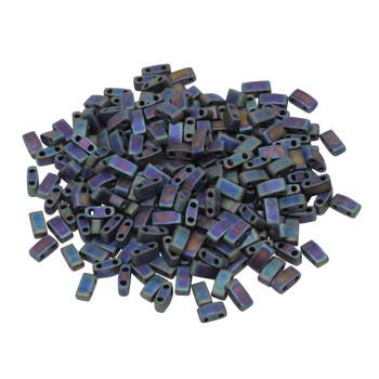 1/2 Cut 5mm Tila Beads -- Black Matte AB