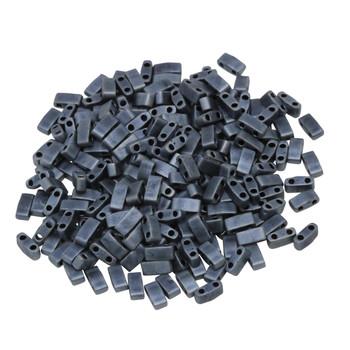1/2 Cut 5mm Tila Beads -- Blue Grey Matte