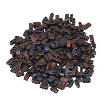 1/2 Cut 5mm Tila Beads -- Metallic Copper Matte
