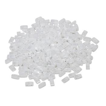 1/2 Cut 5mm Tila Beads -- White Pearl