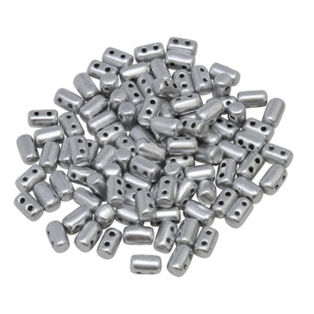 Matubo Czech Glass Rulla Beads -- Aluminum
