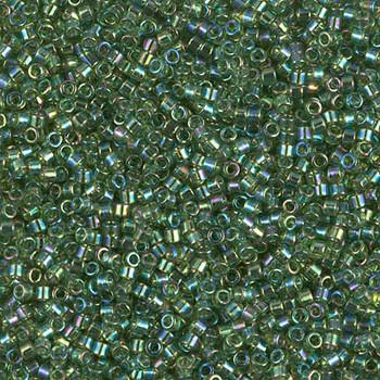 Delicas Size 11 Miyuki Seed Beads -- 1247 Transparent Olive AB