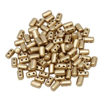 Matubo Czech Glass Rulla Beads -- Crystal Bronze Pale Gold