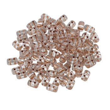 Matubo Czech Glass Rulla Beads -- Crystal / Copper Lined