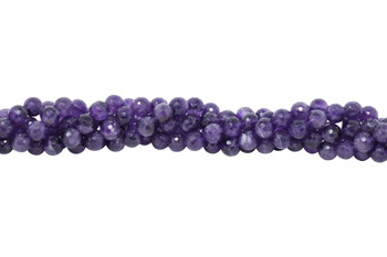 Amethyst Polished 12mm Faceted Round