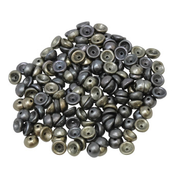 Czech Glass Teacup Beads -- Metallic Leather Matte