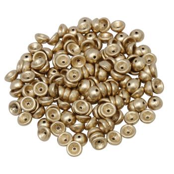 Czech Glass Teacup Beads -- Metallic Flax Matte