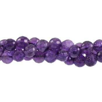 Amethyst Polished 6mm Faceted Round
