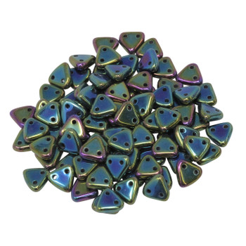 CzechMates® Triangle Beads -- Green Iris