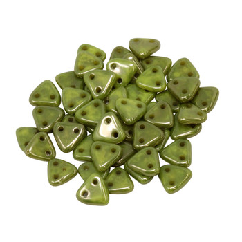 CzechMates® Triangle Beads -- Chartreuse