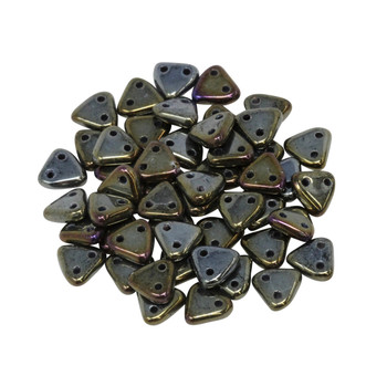 CzechMates® Triangle Beads -- Brown Iris