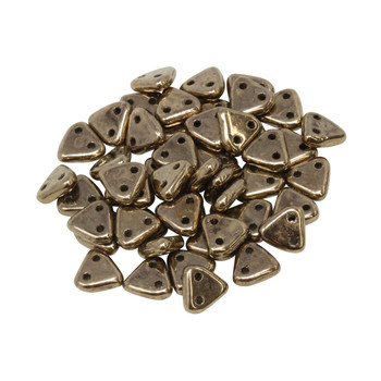 CzechMates® Triangle Beads -- Bronze