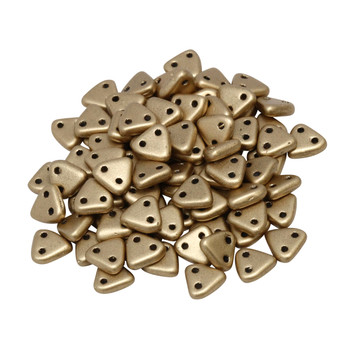 CzechMates® Triangle Beads -- Metallic Flax Matte