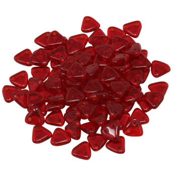 CzechMates® Triangle Beads -- Siam Ruby