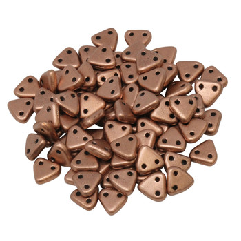 CzechMates® Triangle Beads -- Metallic Copper Matte