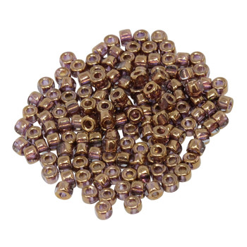 Size 6 Matubo 3 Cut Seed Beads -- Crystal Gold Bronze