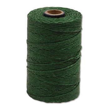 Irish Waxed Linen - Green - Sold by the Foot