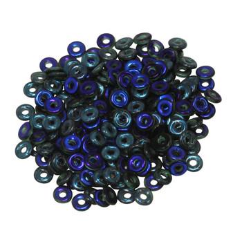 Czech Glass O Beads -- Emerald Azuro