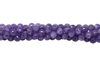 Amethyst Polished 10mm Faceted Round