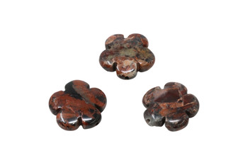 Poppy Jasper Polished 20mm Flower