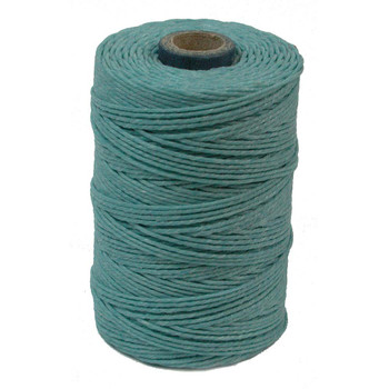 Irish Waxed Linen - Turquoise - Sold by the Foot
