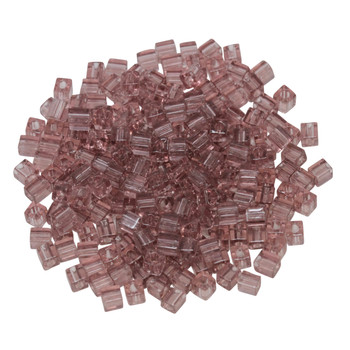 3mm Miyuki Cube Seed Beads -- Transparent Light Amethyst