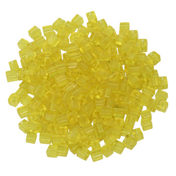 3mm Miyuki Cube Seed Beads -- Transparent Yellow