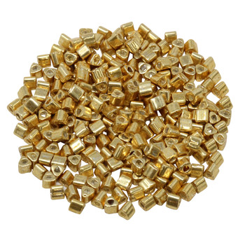 Size 8 Toho Triangle Seed Beads -- Galvanized Starlight