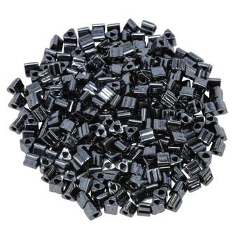Size 8 Toho Triangle Seed Beads -- Hematite