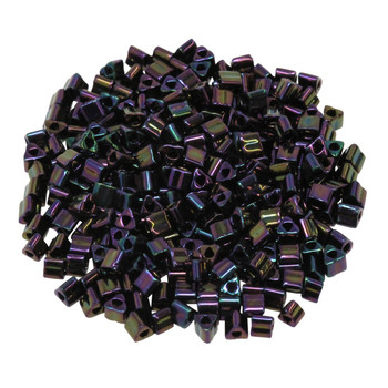 Size 8 Toho Triangle Seed Beads -- Metallic Purple Iris
