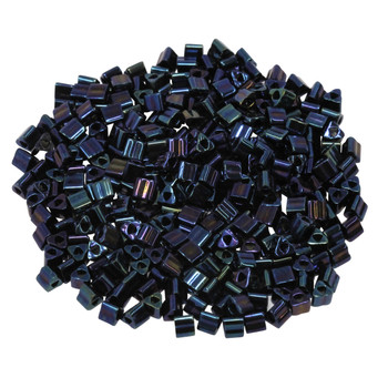 Size 8 Toho Triangle Seed Beads -- Metallic Nebula