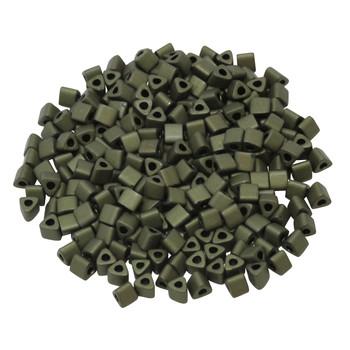 Size 8 Toho Triangle Seed Beads -- Dark Olive Matte