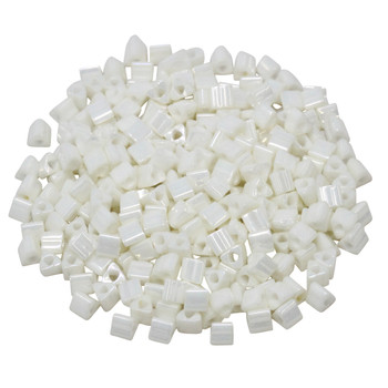 Size 8 Toho Triangle Seed Beads -- Opaque Navajo White Luster