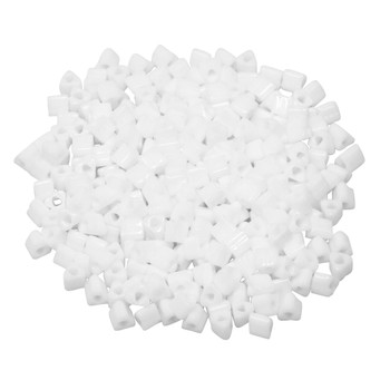 Size 8 Toho Triangle Seed Beads -- Opaque White