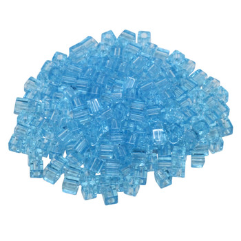 3mm Miyuki Cube Seed Beads -- Transparent Light Blue