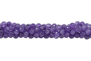 Amethyst Polished 8mm Faceted Round