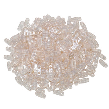 Quarter Tila Beads -- Light Rose Luster
