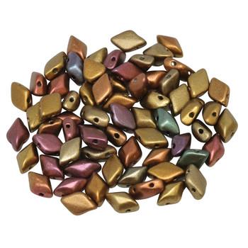 Matubo GemDuo -- Metallic Gold Copper Iris Matte